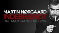 Plakat for koncerten Martin Nørgaard - Indebrændt