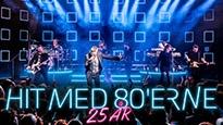 Plakat for koncerten Hit med 80'erne - 25 års jubilæum