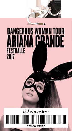 Ariana Grande Vip Laminate Dangerous Woman Tour