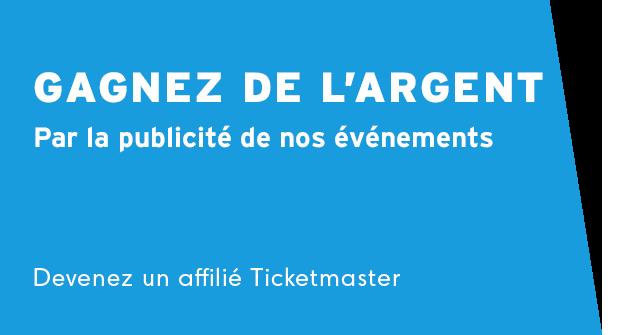 Devenez un affilié Ticketmaster