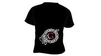 Sort T-shirt 1tryk