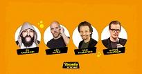 Komediafestivaali On The Road: Jahangiri, Kivelä, Johansson, Wicktsröm
