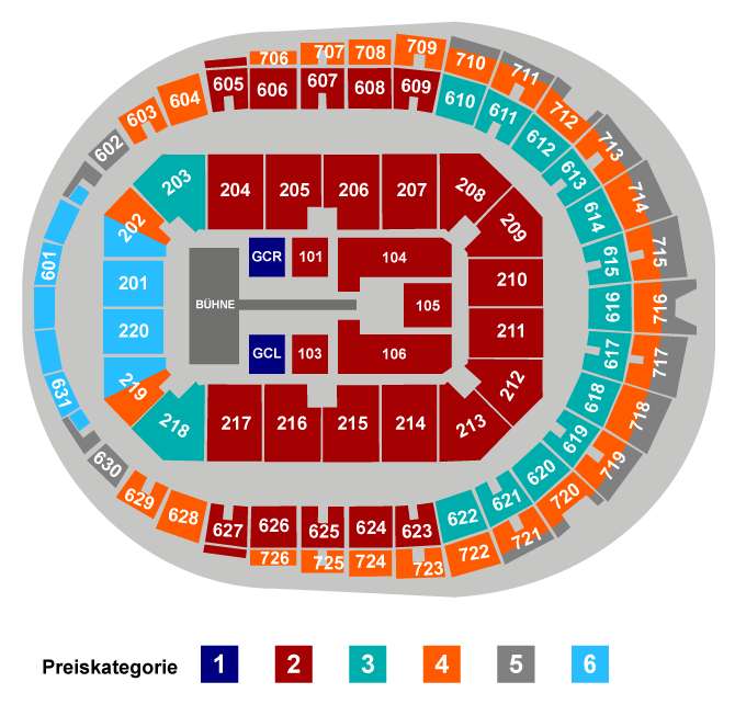 Harry Styles | Platinum Tickets Seating Plan at Lanxess Arena
