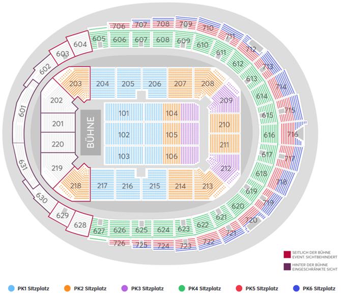 Bryan Adams | So Happy It Hurts Tour Seating Plan at Lanxess Arena